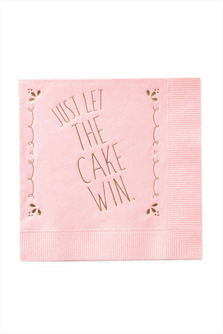 Just Let The Cake Win Napkins