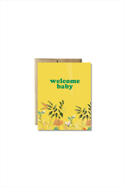 Welcome Flora Baby Card