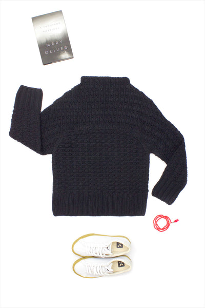 F&H Cashmere Luxembourg Sweater Black