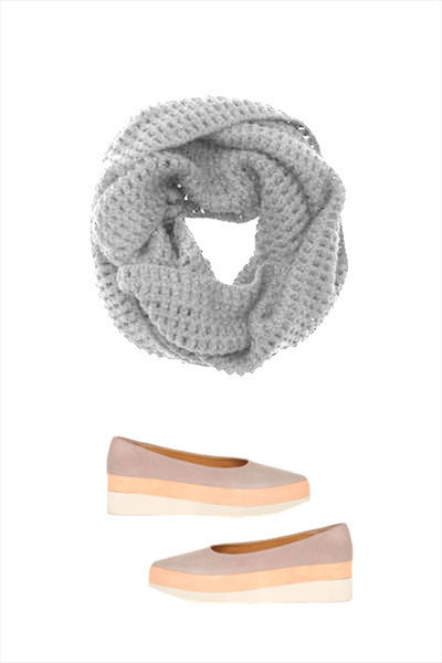 F&H Cashmere Infinity Crochet Scarf