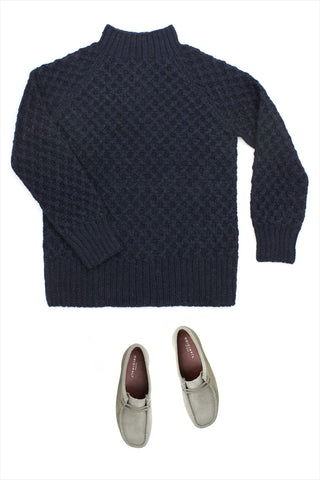 F&H Men's Basketweave Sweater