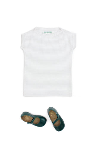 Tunic Tee White Gold