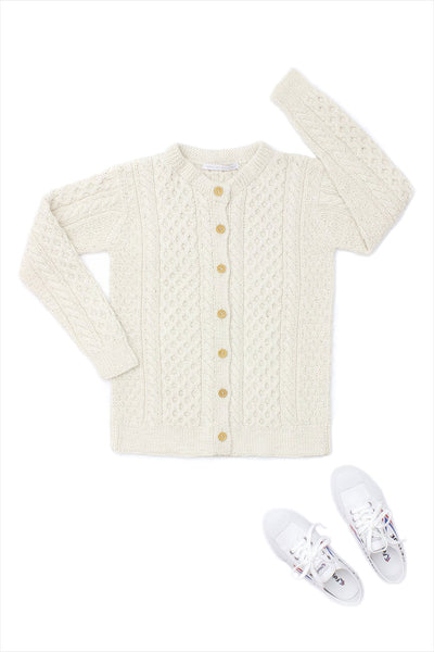 F&H Irish Cardigan Cream