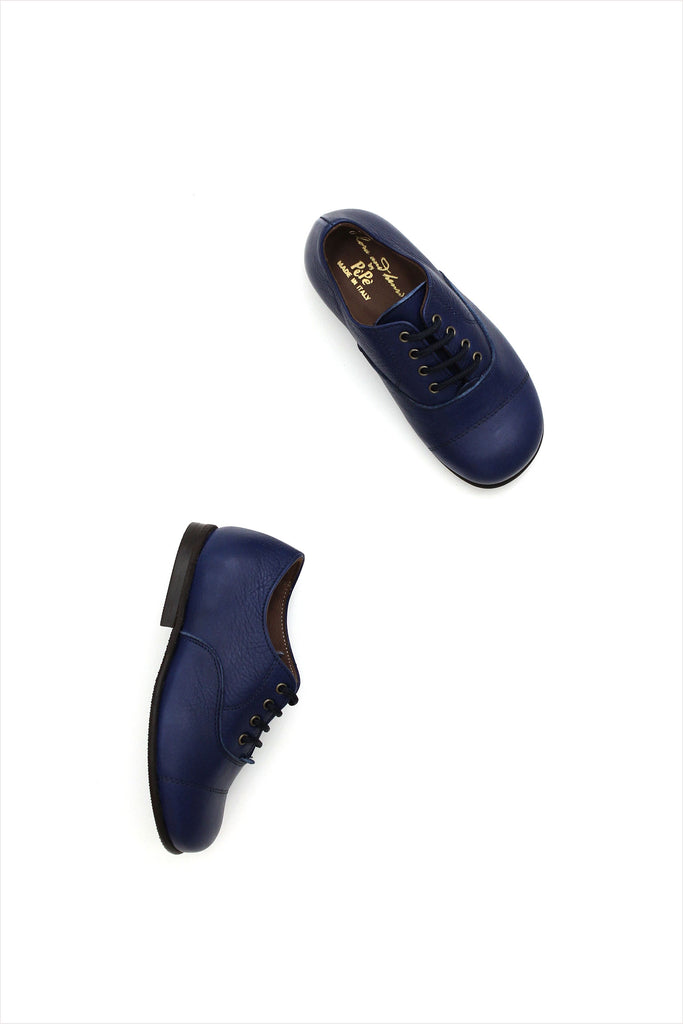Leather Oxford Navy