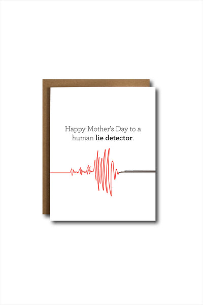 Lie Detector Mother's Day Card