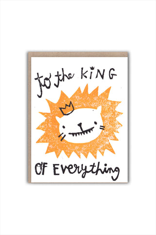 King Of Everything Card