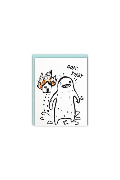 Pyro Yeti Sorry Card Card