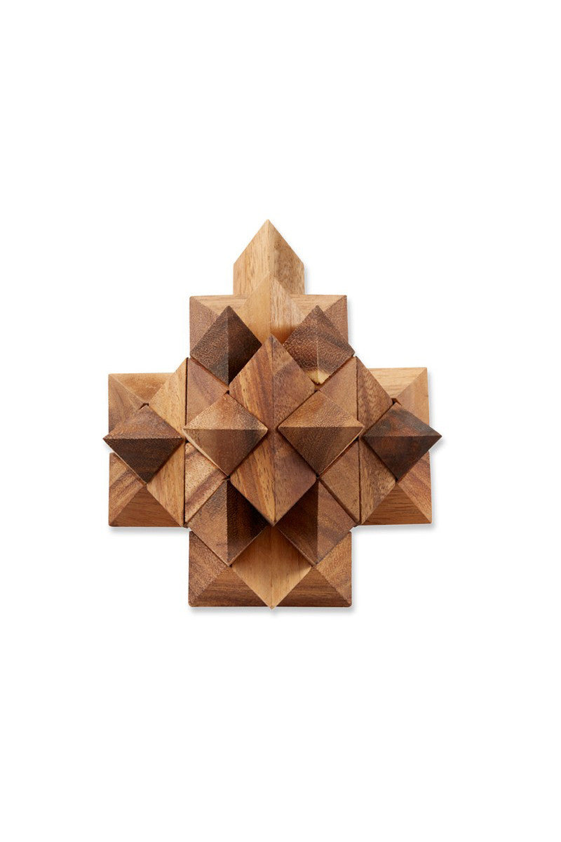 Giant Star Puzzle Wood