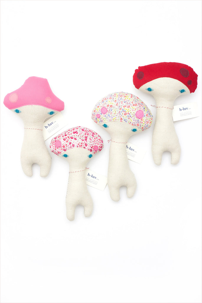 H-Luv Mushrooms Small: Pink/Red