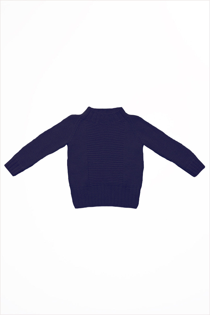 Handknit Alpaca Sailor Sweater Navy