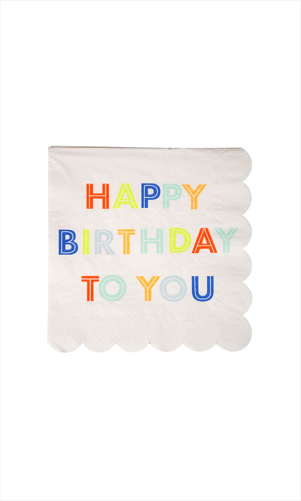 Happy Birthday To You Napkins