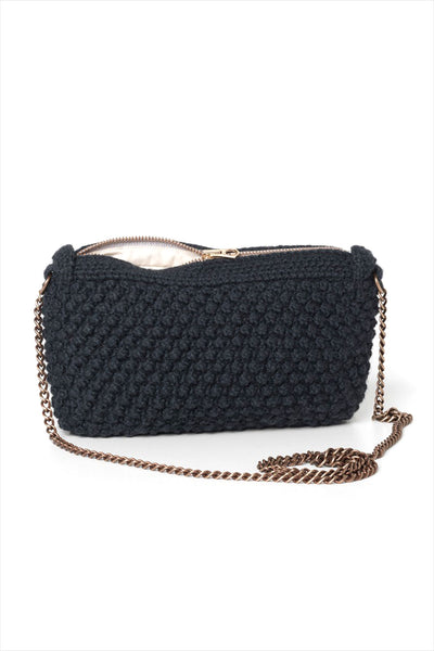 AIAYU Helen Chain Clutch Bag Navy