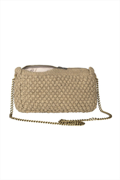 AIAYU Helen Chain Clutch Bag Wood