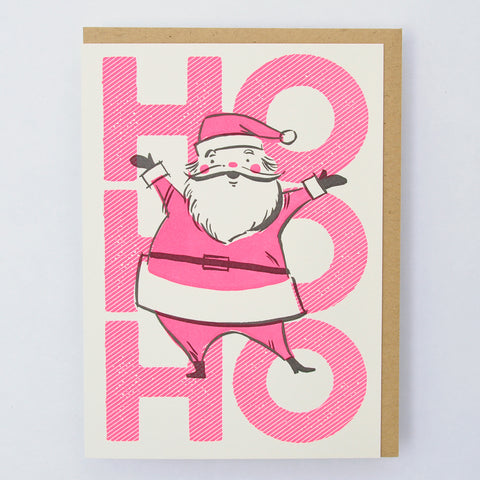 Ho Ho Ho Santa Holiday Card