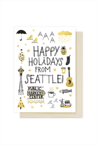 Happy Holidays From Seattle Card