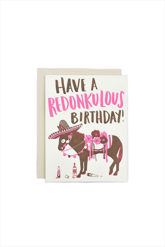 Redonkulous Birthday Card