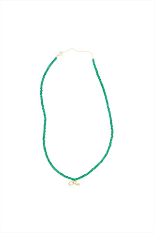 ESHK Jade and Diamond Dot Necklace