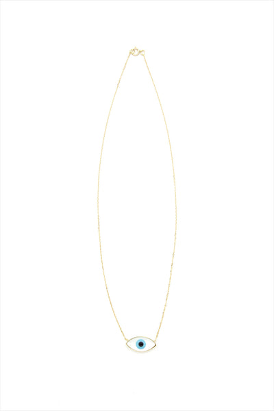 Evil Eye 18 mm Solitare Necklace