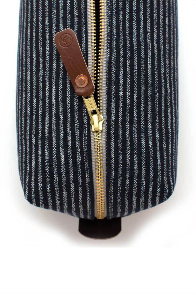 Japanese Chalk Stripe Dopp Kit Travel Bag