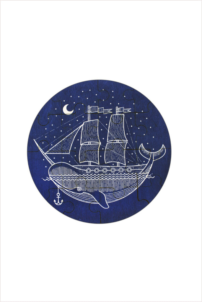 Jigsaw Puzzle Narwhal Ship