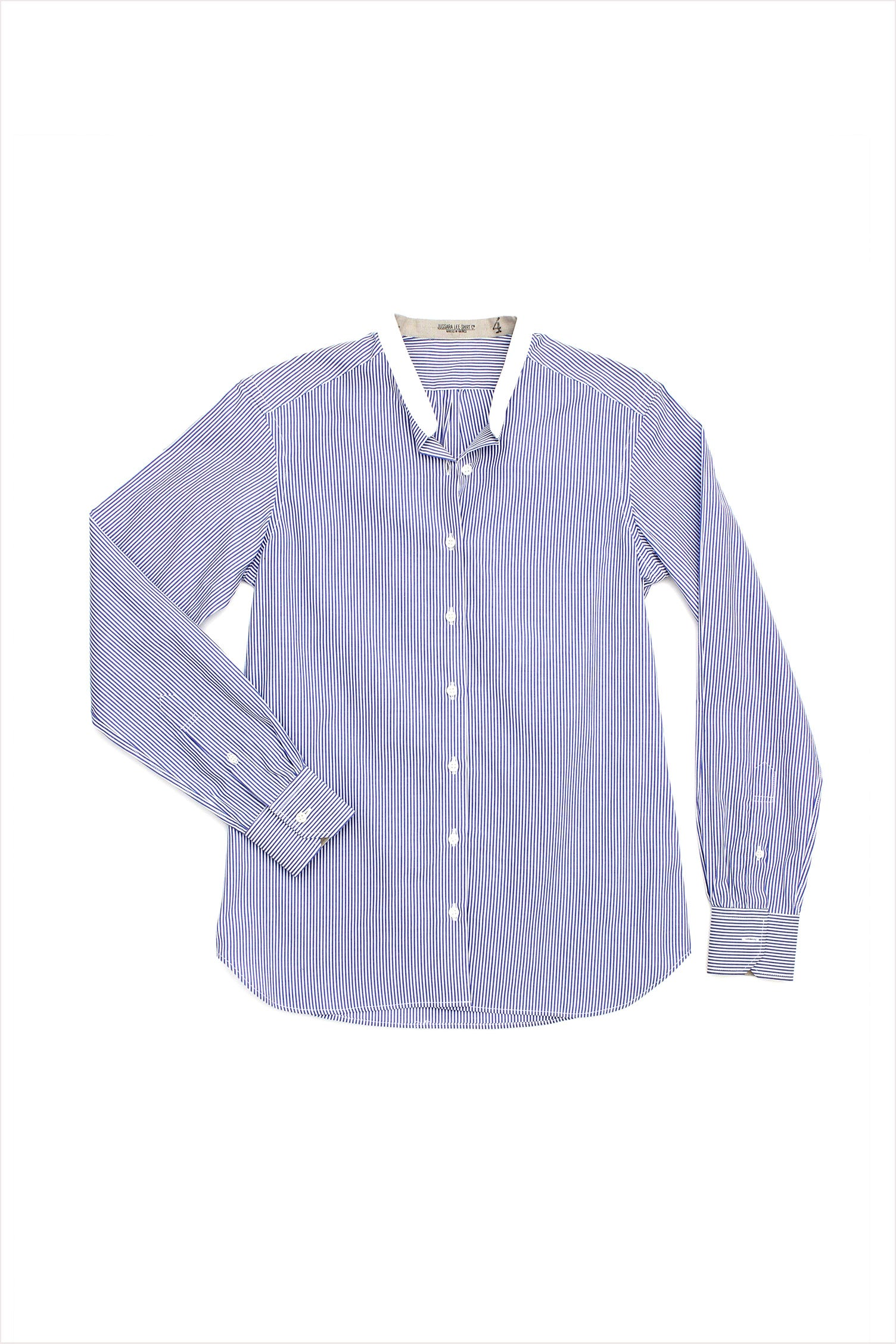 Long Sleeve Striped Voile Shirt