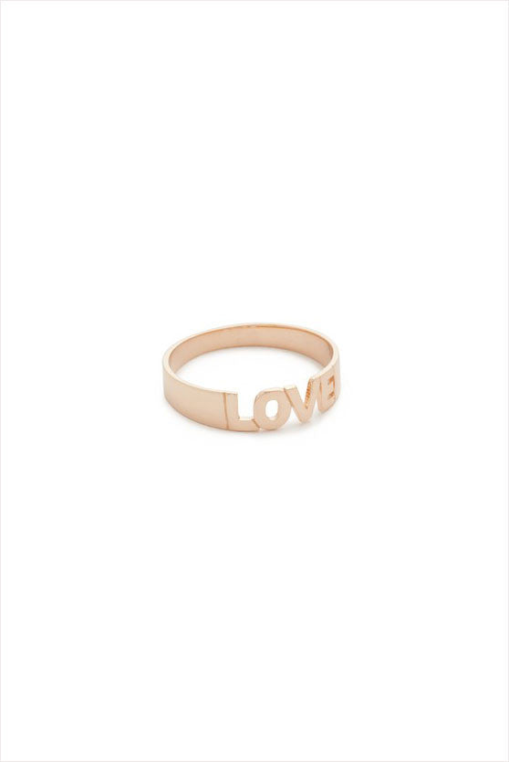 LOVE Ring Plain Gold