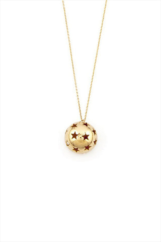 Heroine Punched Star Ball Necklace