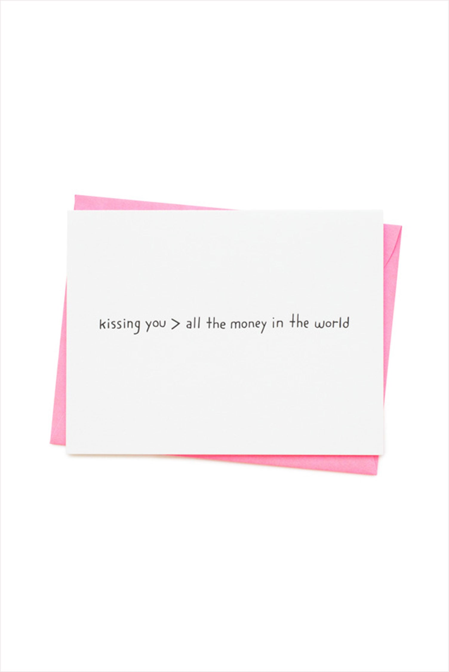 Kissing You Card