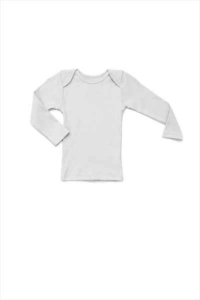 Lap Shoulder Tee Long Sleeve Pale Gray