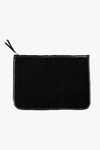Large Suede Clutch