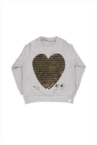 Le Heart Fleece Raglan Pullover