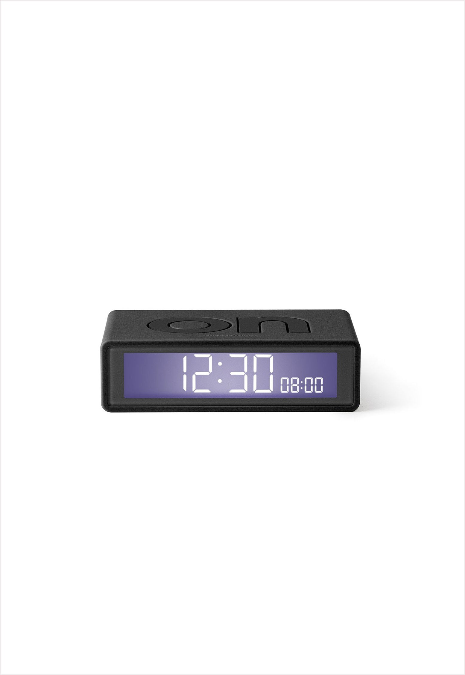 Flip Travel Alarm Clock Dark Gray