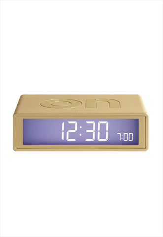 Flip Alarm Clock Soft Gold