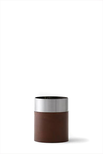 Lex Pott Vase Steel Brown