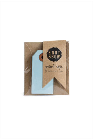 Light Blue Parcel Tags