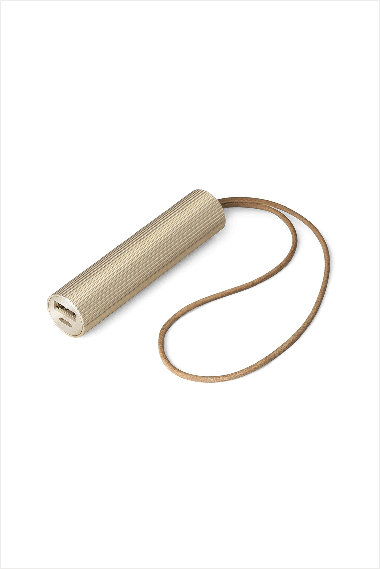 Fine Tube Power Bank Soft Gold