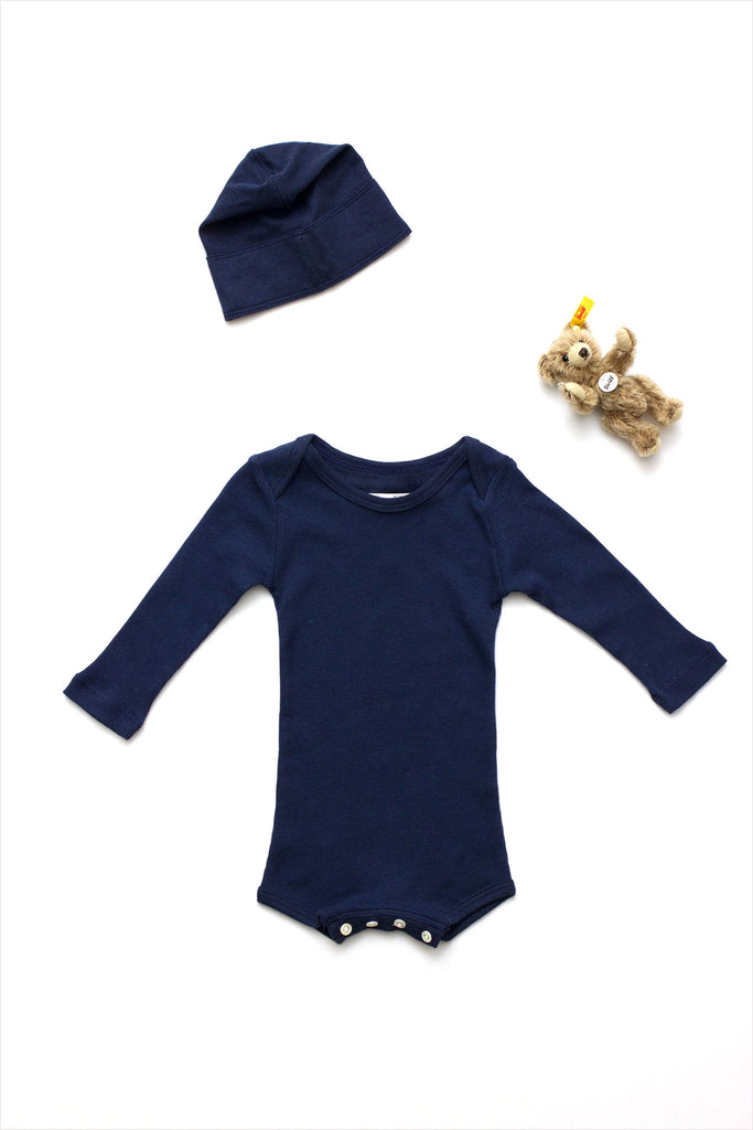 Long Sleeve Lap Shoulder Crawler Navy