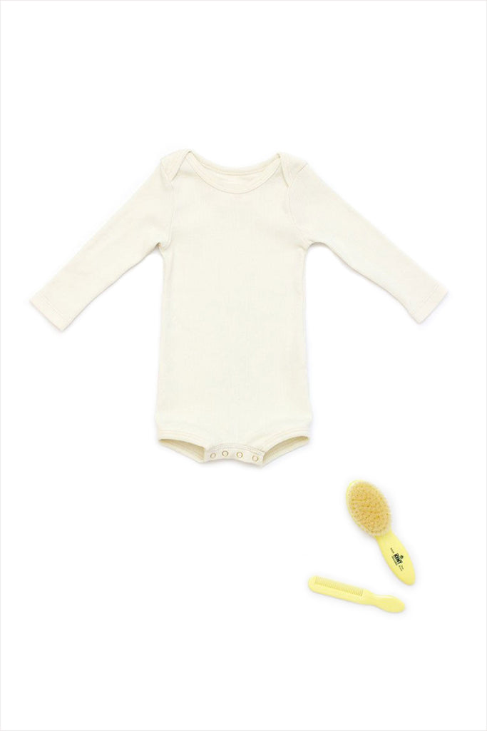 Long Sleeve Crawler w/ Snaps Sand