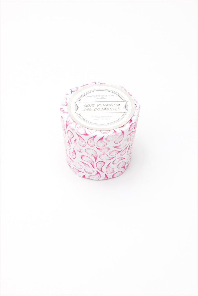 Marigold And Mint Candle Rose Geranium