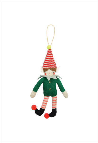 Knitted Elf Tree Decoration