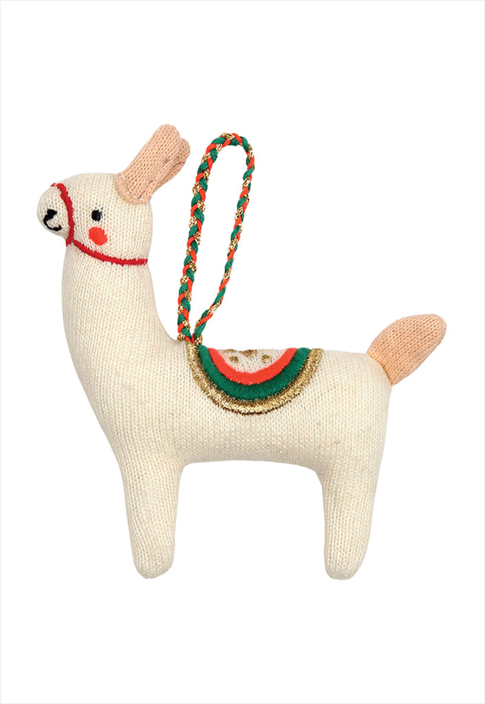 Llama Knitted Ornament Tree Decoration