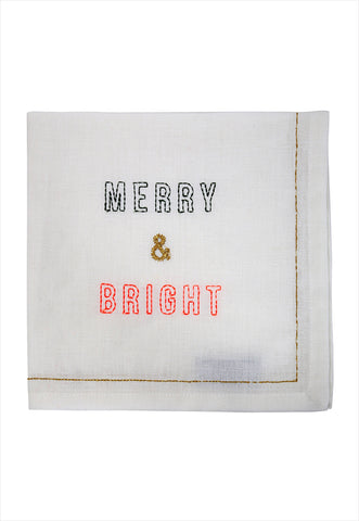 Merry and Bright Fabric Napkin Set of Four