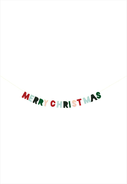 Mini Felt Merry Christmas Garland