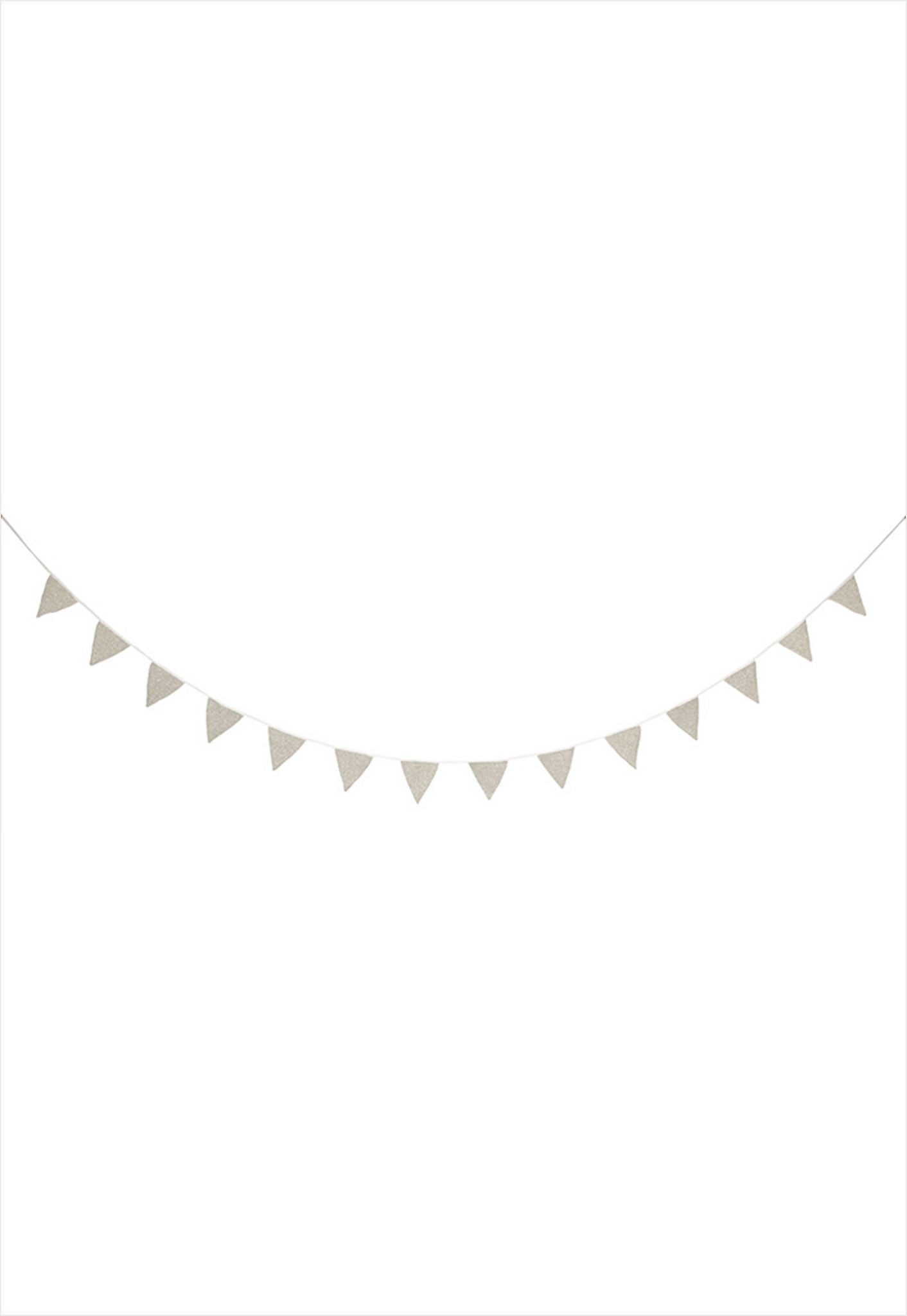 Silver Knitted Flag Garland