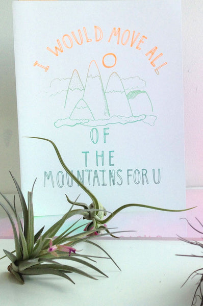 Move Mountains For You Card