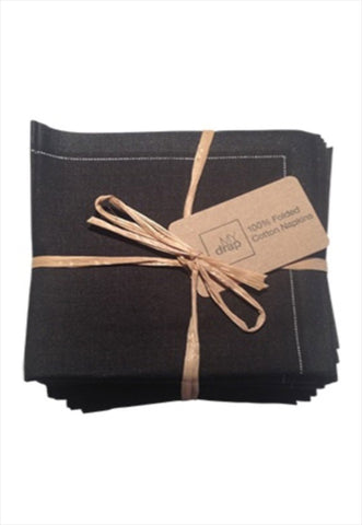 Cotton Cocktail Napkin Black
