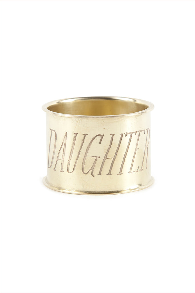 Daughter Endearment Napkin Ring