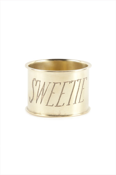 Sweetie Endearment Napkin Ring