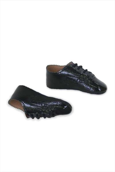 Scallop Baby Shoe 1920 Black
