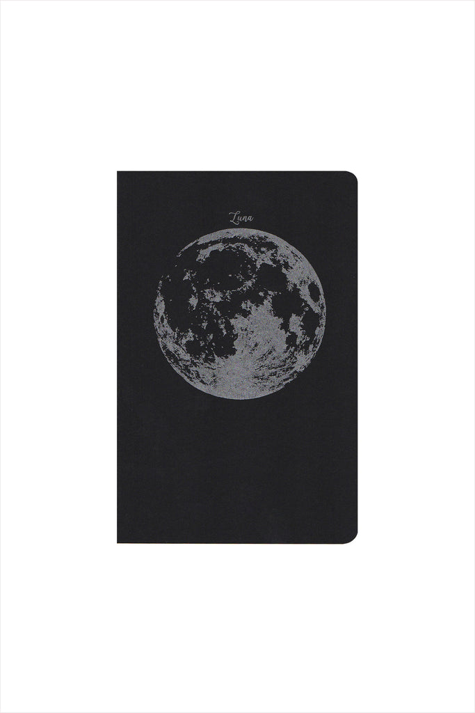 Moon, Luna, Large Notebook
